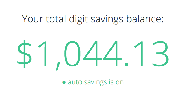 My Digit Savings Balance