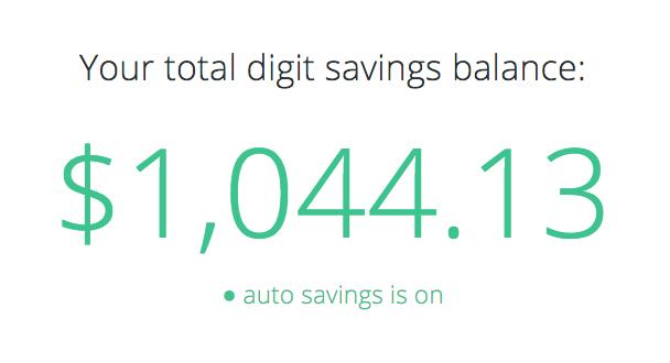 My Digit Savings Balance
