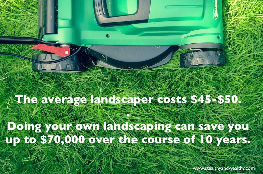 saving money on landscaping