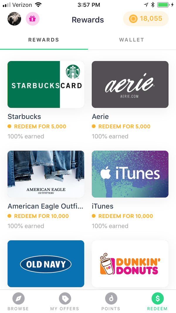 Drop App Redeem Gift Cards