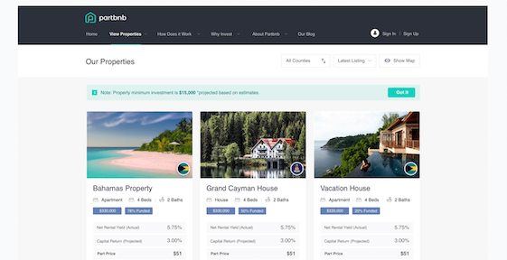 Partbnb Platform Screenshot